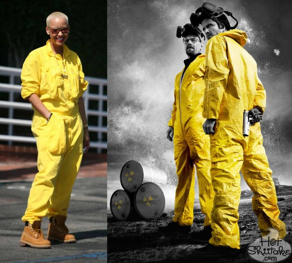Amber Rose Breaking Bad Yellow Suit