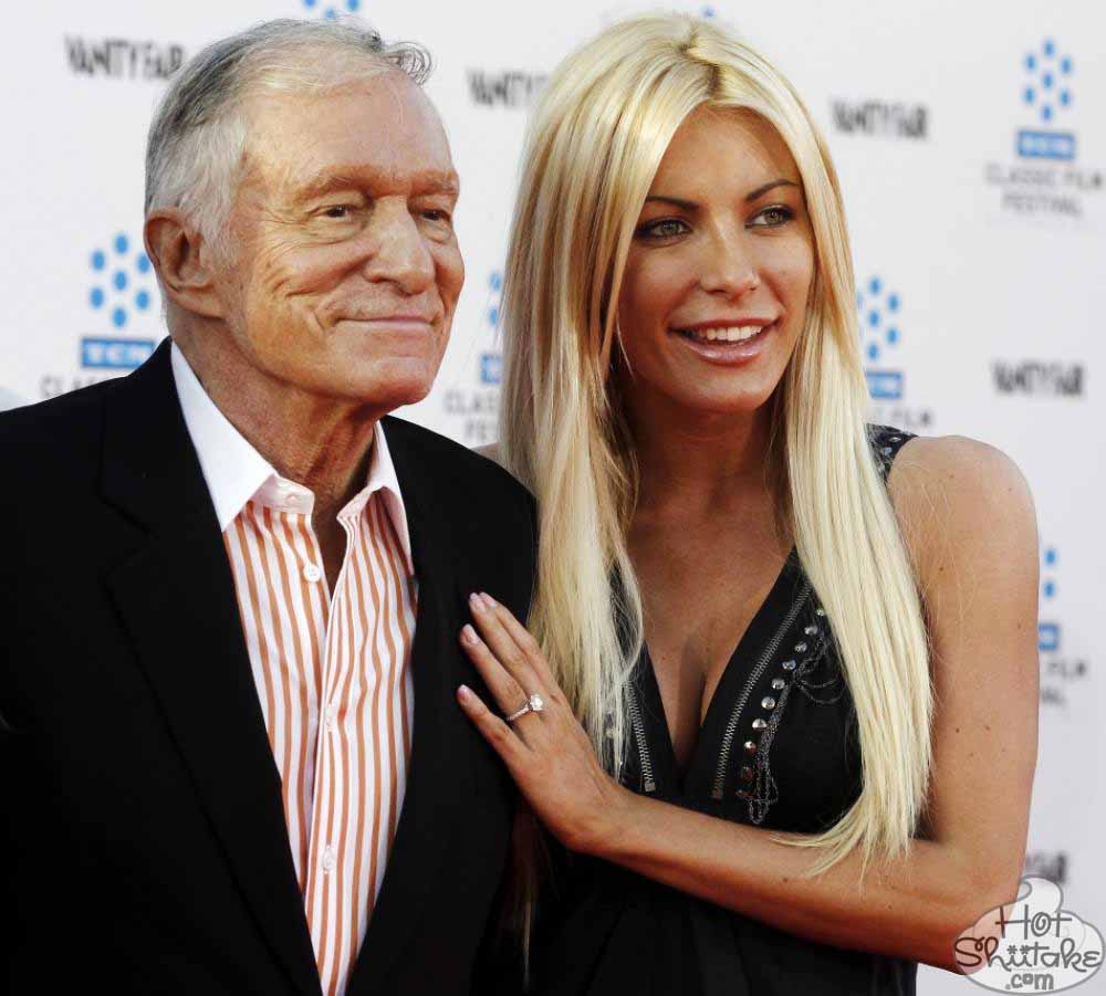 Hugh Hefner with fun, Wife Crystal Harris