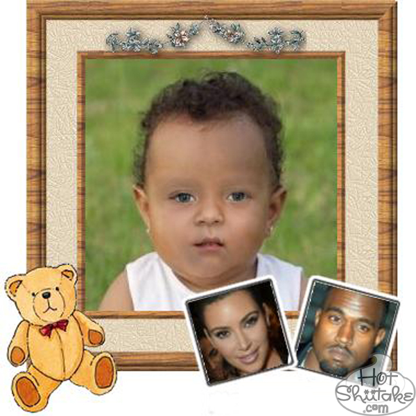 Kanye West Kim Kardashian Baby