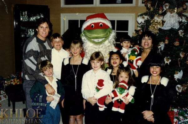 Kardashian Family Christmas Cards 1991