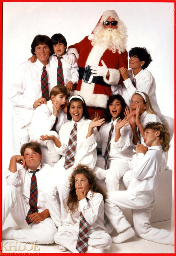 Kardashian Family Christmas Cards 1992