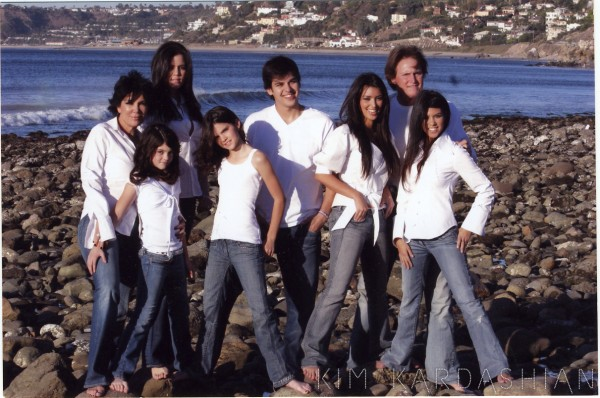 Kardashian Family Christmas Cards 2006