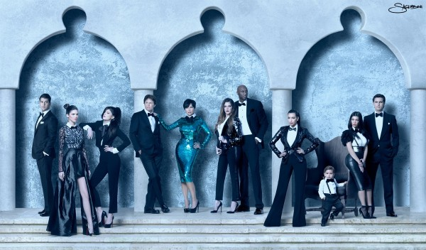 Kardashian Family Christmas Cards 2011