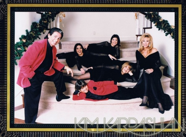Kardashian Family Christmas Cards 1998
