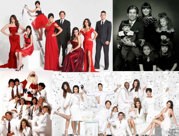 Kardashian Family Christmas Cards Over The Years Pics All The Kraziness